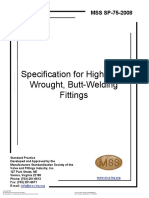 MSS SP-75-2008 SPECIFICATION FOR HIGH-TEST, WROUGHT, BUTTWELDING FITTINGS