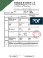 COA of Inositol hexanicotinate 98.5% 20021709