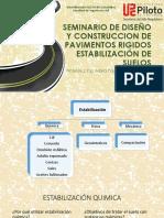 ClASE 4 PAVIMENTOS- ESTABILIZACION DE SUELOS