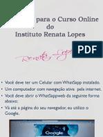 Instruções para o Curso Online- WhatSapp