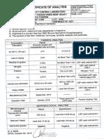 C.O.A. 7.925 F.D. Beef Heart Sub. Powder Lot 6436