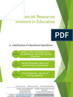 Financial Resources Invested in Education