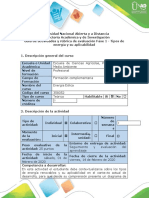 Guía de actividades y rúbrica de evaluación - Fase 1 - Tipos de energía y su aplicabilidad