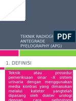 TEKNIK RADIOGRAFI ATEGRADE PYELOGRAPHY (APG)