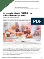 La Importancia Del PMBOK _ Gestión de Proyectos _ Apuntes Empresariales _ ESAN