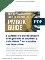 Cambios en El PMBOK 6ta Que Debes Saber _ CIDE INGENIERÍA