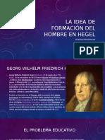 La idea de formación en Hegel