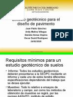 Estudio geotecnico para el diseño de pavimentos version poli