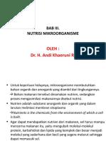 3. NUTRISI MIKROORGANISME