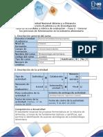 Guia de actividades y rubrica de evaluación - Fase 2 - Conocer los procesos de fermentación en la industria alimentaria.docx