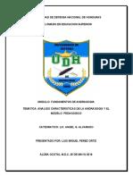 Análisis Características de la andragogía y el modelo pedagógico Perez