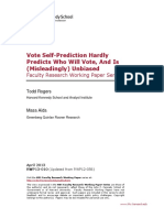 """""""Vote Self-Prediction Hardly Predicts Who Will Vote, and Is (Misleadingly) Unbiased"""