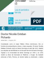 Doctor Nicolás Esteban Pichardo - Periódico El Caribe - Mereces verdaderas respuestas