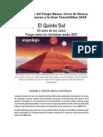 Peregrinación del Fuego Nuevo Xicuco,Tula, Teotihuacan y Tenochtitlan