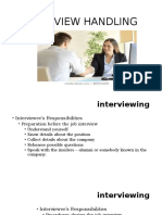 INTERVIEW HANDLING