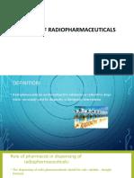 Handling of Radio Pharmaceuticals