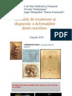Metodele de examinare și diagnostic a defomațiilor dento-maxilare..pdf