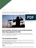 Cours de batterie_ Comment lire une partition de batterie - Blog Carpe Dièse-1