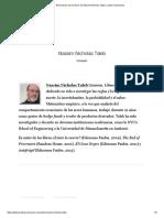 Resúmenes de los libros de Nassim Nicholas Taleb _ Leader Summaries