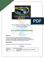 Curso Plano de Segurança em Shopping Center - Rio de Janeiro-RJ - 24 de Março 2018
