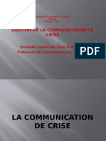 la communication de crise ppt