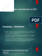 The Companies (Amendment) Act 2015