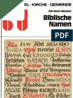 Biblische Namen kurz erklärt