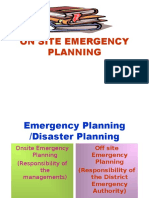On site Emergency Planning (English)