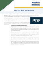 RECOMENDACIONES PARA ESTUDIANTES Y PADRES DE FAMILIA