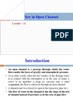 Lecture 11 - Steady Flow in Open Channels