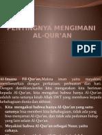 PENTINGNYA MENGIMANI AL-QUR'AN.pptx