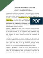 Modelo de Acordo individual suspensão do contrato MP 936