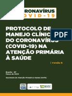 PROTOCOLO de Manejo Clinico de Coronavirus Covid 19 Na Atencao Primaria a Saude