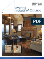 Floorcovering Institute of Ontarion 2008 2009 Directory