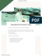 Simplified Kundalini Yoga - Vethathiri Maharishi