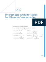 Interest and Annuity Tables for Discrete Compounding