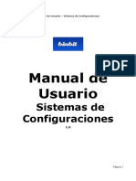Configuraciones Manual de Usuarios