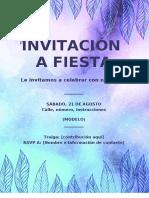 MODELO DE INVITACIÓN