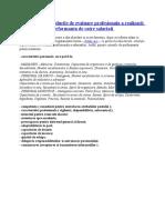 Criteriile si procedurile de evaluare profesionala