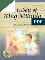 Bhikkhu Pesala-The debate of King Milinda _ an abridgement of the Milinda pañha