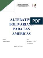 ALTERATIVA BOLIVARIANA PARA LAS AMERICAS trabajo