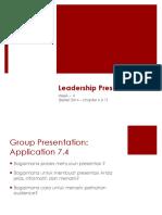 Session 4 - Leadership Presentation