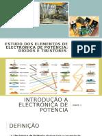 ESTUDO DOS ELEMENTOS DE ELECTRÓNICA DE POTÊNCIA