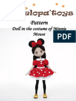 Doll in Minnie-Mouse costume