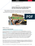 Empresas españolas financian una hidroeléctrica colombiana con errores de construcción (Público, 02-02-20, Colombia)