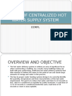 DESIGN OF CENTRALIZED HOT WATER SUPPLY SYSTEM