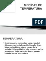 MEDIDAS DE TEMPERATURA presentacion