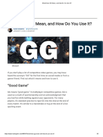 What Does GG Mean, and How Do You Use It_