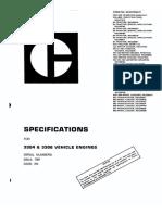 Especificaciones Motor Cat 3304-3306