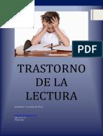CURSO TRASTORNO DE LA LECTURA